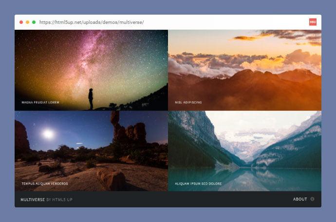 Multiverse - 53+ Free HTML CSS Portfolio Web Design Templates [year]