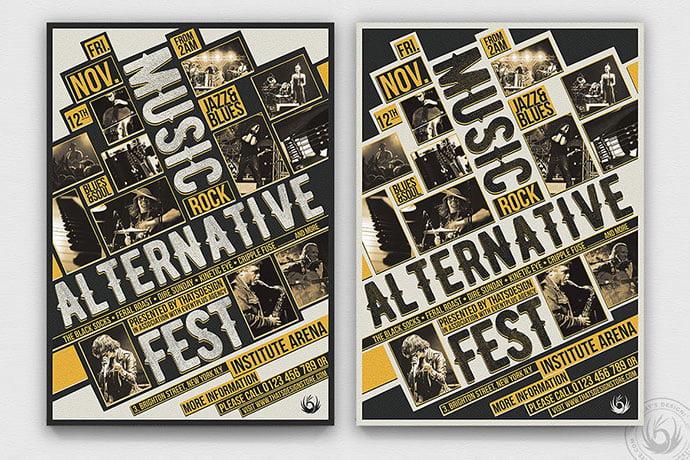 Music-Festival-Flyer-Template-V11 - 48+ Lovely Flyer & Poster Design Templates [year]