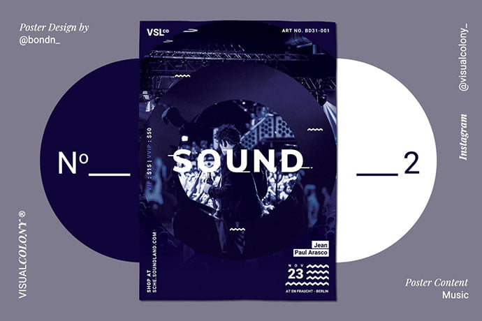 Music-Poster-1 - 48+ Lovely Flyer & Poster Design Templates [year]
