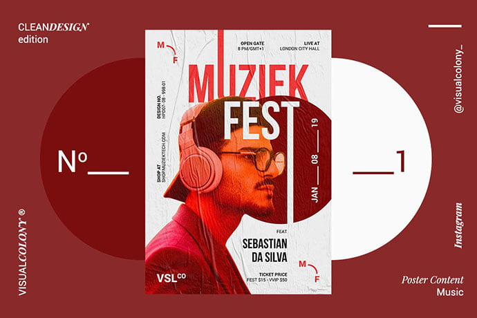 Music-Poster - 48+ Lovely Flyer & Poster Design Templates [year]