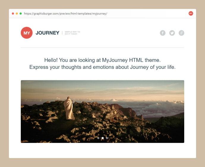 MyJourney - 53+ Free HTML CSS Portfolio Web Design Templates [year]