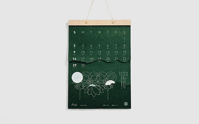 Natural-Days - 38+ Free Innovative Calendar Design Example [year]