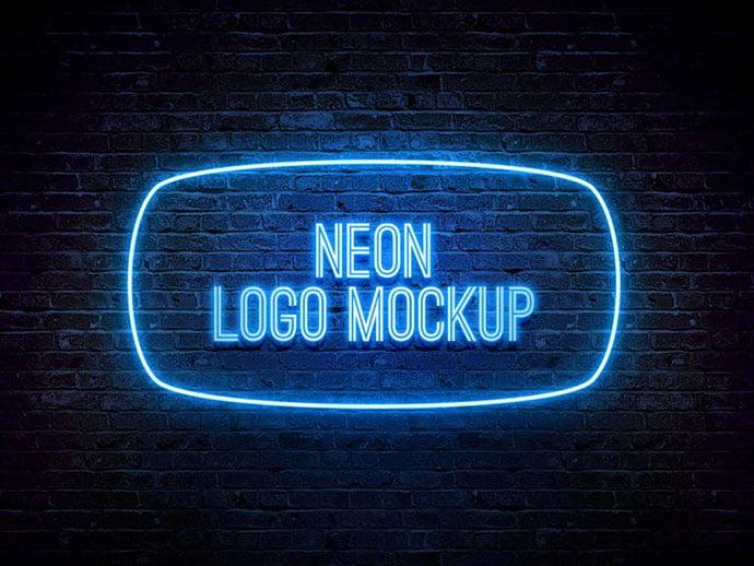 Neon-Logo - 40+ Nice Free PSD Showcase Logo For Designer [year]