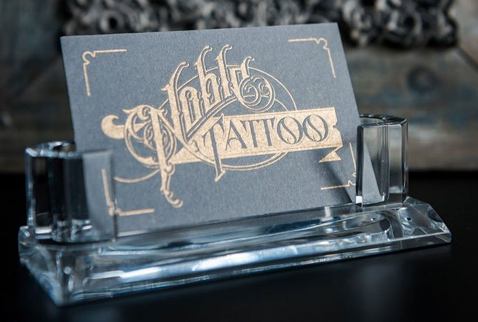 Noble-Tattoo - 31+ Awesome Free Tattoo Business Card Designs 2020