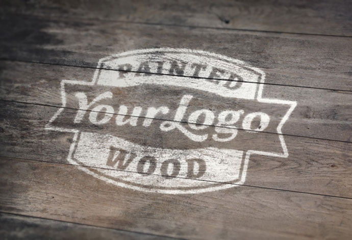 Painted-Wood - 40+ Nice Free PSD Showcase Logo For Designer [year]