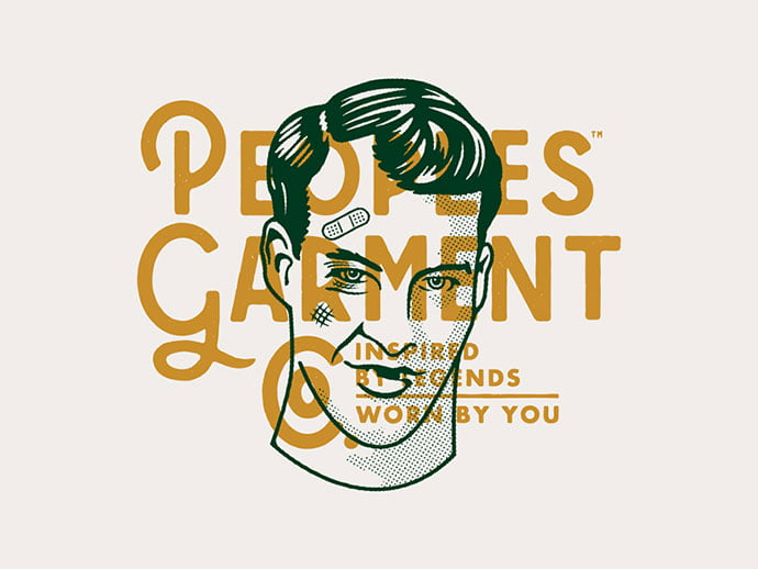 Peoples-Garment-Company - 33+ Free Awesome Portrait Logo Designs Sample [year]