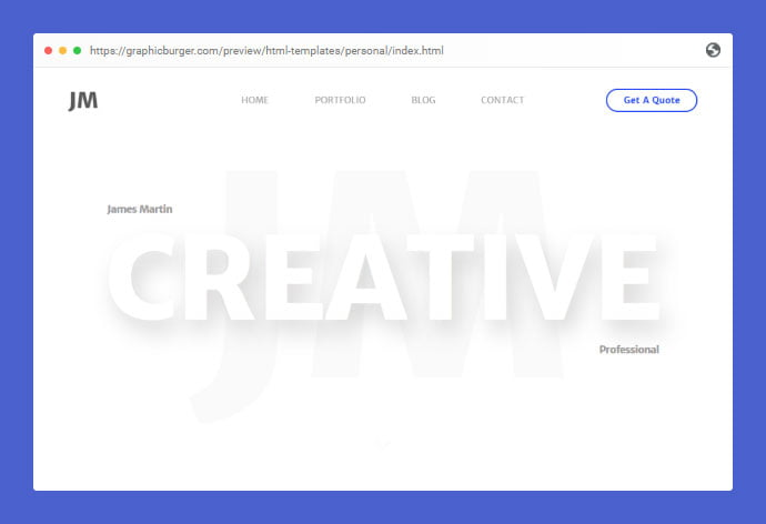 Personal-1 - 53+ Free HTML CSS Portfolio Web Design Templates [year]