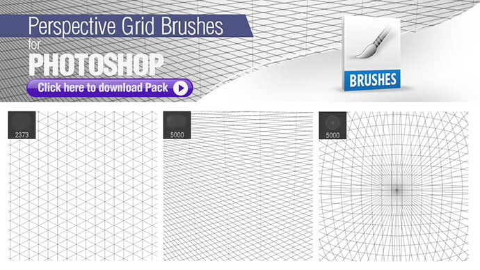 Perspective-Grid-Brushes-for-Photoshop - 44+ Nice Free Photoshop Brush Sets For Designer [year]