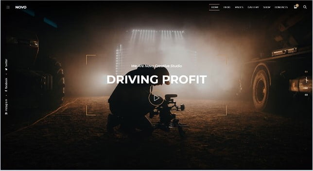 Photography-Novo - 35+ Nice Videographers & Cinematographers WordPress Themes [year]