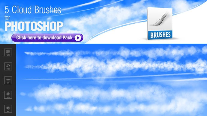 Photoshop-Brushes-for-Painting-Clouds - 44+ Nice Free Photoshop Brush Sets For Designer [year]