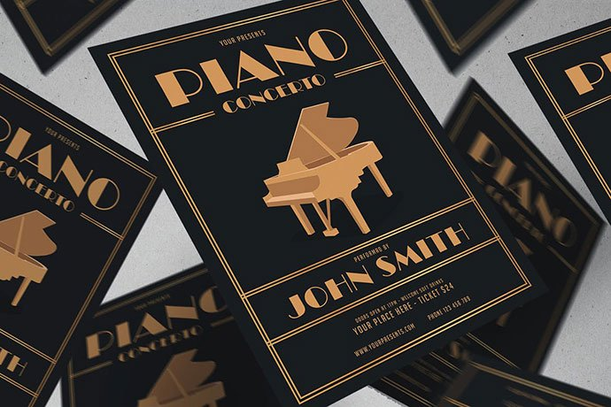Piano-Concert-Flyer - 48+ Lovely Flyer & Poster Design Templates [year]