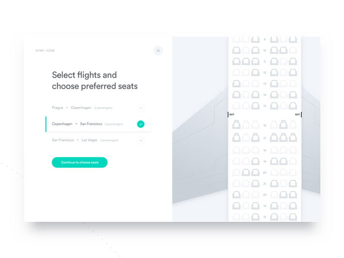 Pick-a-seat - 53+ NICE Free Seat Reservation App UI Design IDEA [year]