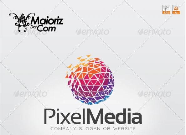 Pixel-Media-Logo - 40+ Nice Free PSD Showcase Logo For Designer [year]