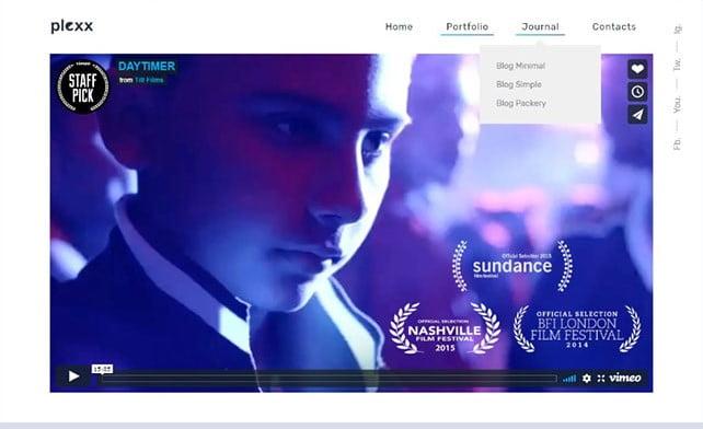 Plexx - 35+ Nice Videographers & Cinematographers WordPress Themes [year]