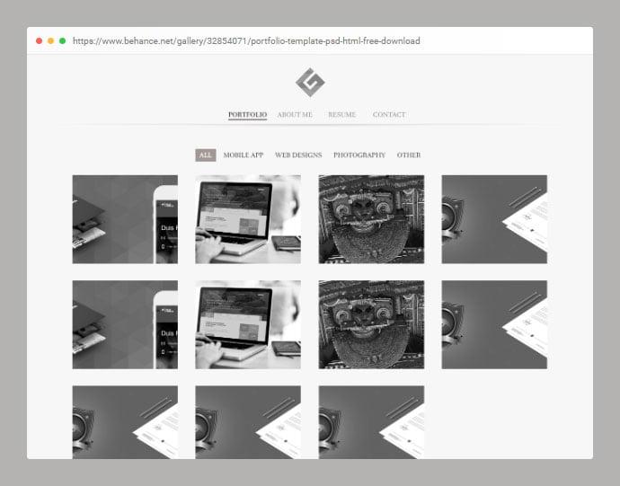 Portfolio-1 - 53+ Free HTML CSS Portfolio Web Design Templates [year]