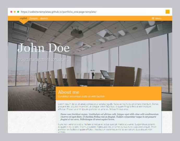 Portfolio-2 - 53+ Free HTML CSS Portfolio Web Design Templates [year]