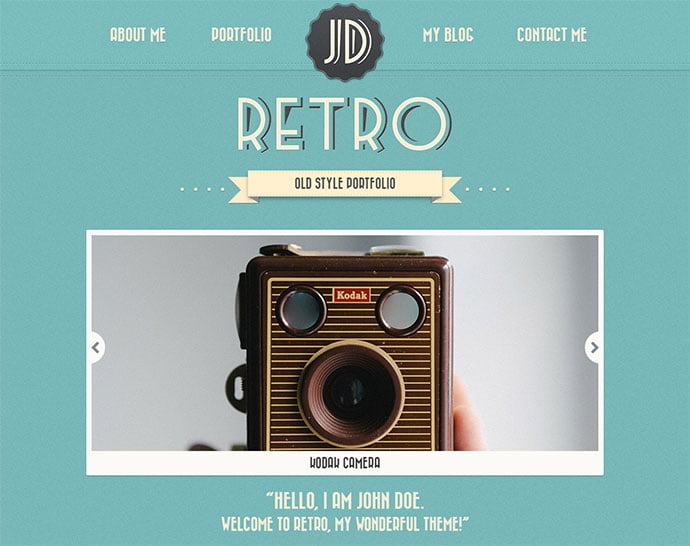 Portfolio - 32+ Impressive Retro Cool WordPress Themes [year]