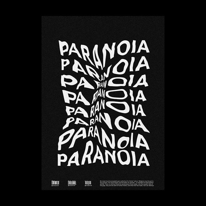 Poster-Collection-Vol.4 - 38+ FREE Distorted Typography Designs [year]
