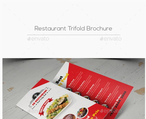 Restaurant-Trifold - 33+ Awesome Brochure Design For Coffee Shop [year]