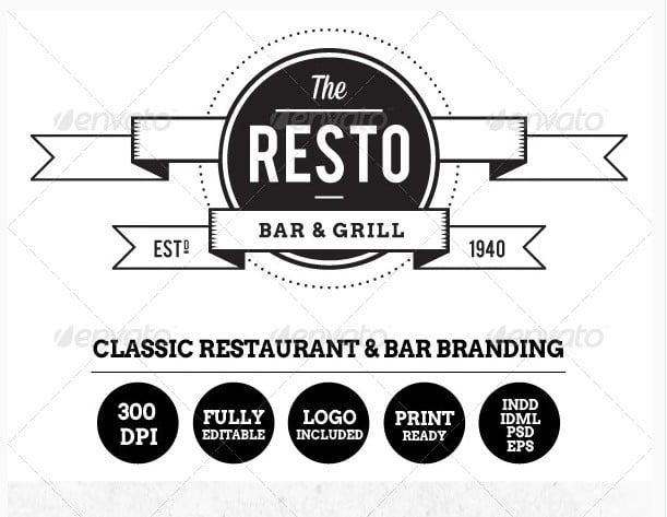 Resto - 33+ Free Awesome Portrait Logo Designs Sample [year]