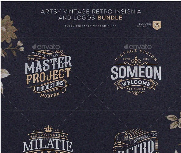 Retro-Vintage-Brand-Designs - 38+ Free Brilliant Retro & Vintage Brand Designs [year]