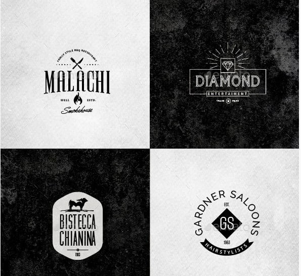 Retro-Vintage-Minimal-Logos-Vol.03 - 38+ Free Brilliant Retro & Vintage Brand Designs [year]