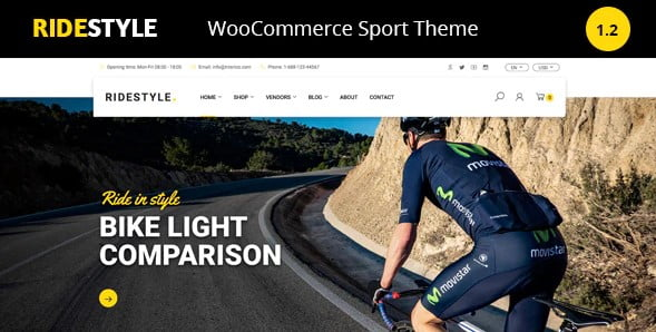 Ridestyle - 29+ Best Bike Store Responsive WordPress Themes [year]
