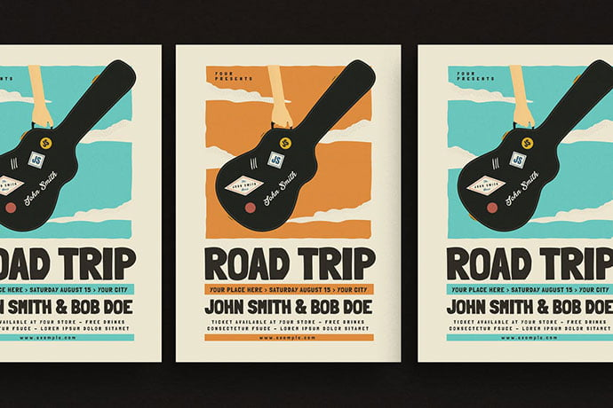 Road-Trip-Gigs-Event-Flyer - 48+ Lovely Flyer & Poster Design Templates [year]