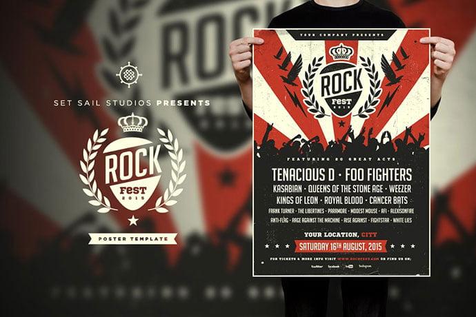 Rock-Fest-Poster - 48+ Lovely Flyer & Poster Design Templates [year]