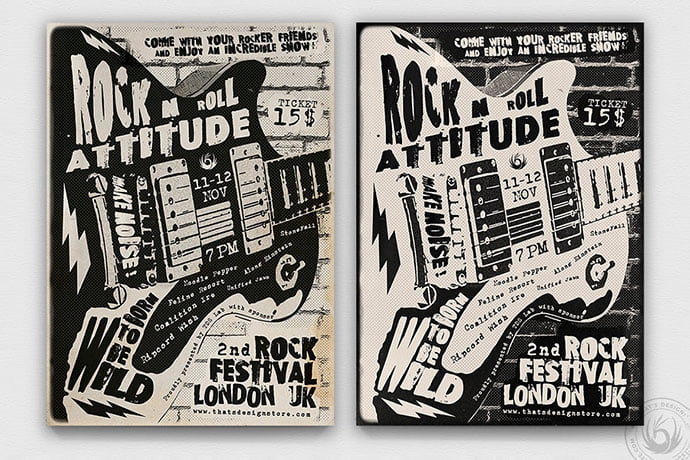 Rock-Festival-Flyer-Template-V3 - 48+ Lovely Flyer & Poster Design Templates [year]