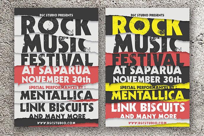 Rock-Music-Festival-Flyer - 48+ Lovely Flyer & Poster Design Templates [year]