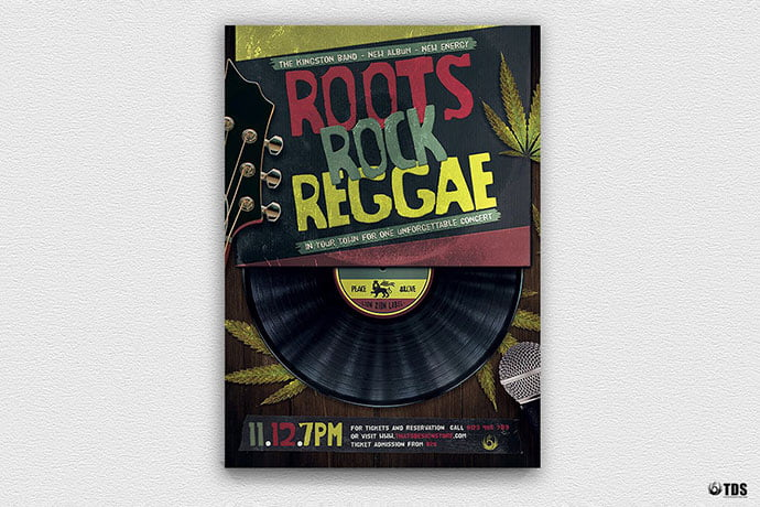 Roots-Rock-Reggae-Flyer-Template - 48+ Lovely Flyer & Poster Design Templates [year]
