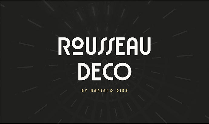 Rousseau-Deco - 43+ Important Free Fonts Collection [UPDATE 2020]
