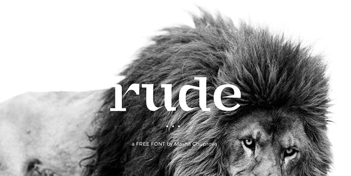 Rude - 43+ Important Free Fonts Collection [UPDATE 2020]