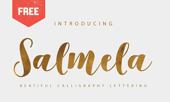 Salmela - 43+ Important Free Fonts Collection [UPDATE 2020]