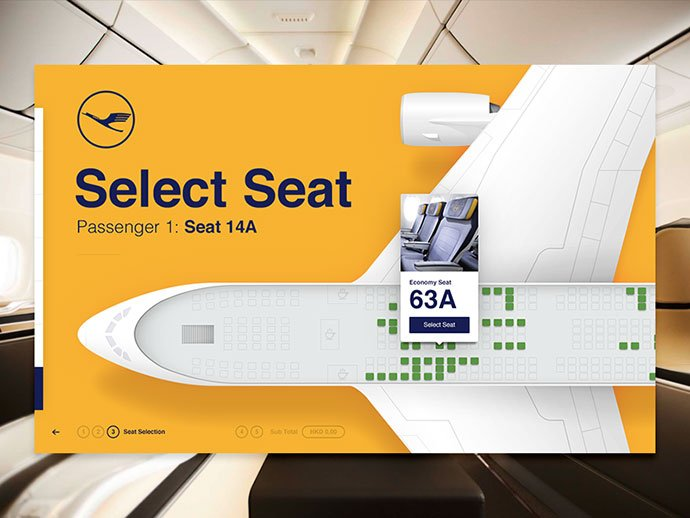 Seat-Selector - 53+ NICE Free Seat Reservation App UI Design IDEA [year]