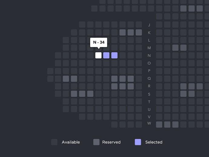 Seating-Plan - 53+ NICE Free Seat Reservation App UI Design IDEA [year]