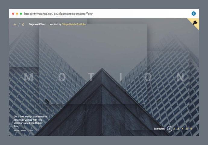 Segment-Effect - 53+ Free HTML CSS Portfolio Web Design Templates [year]