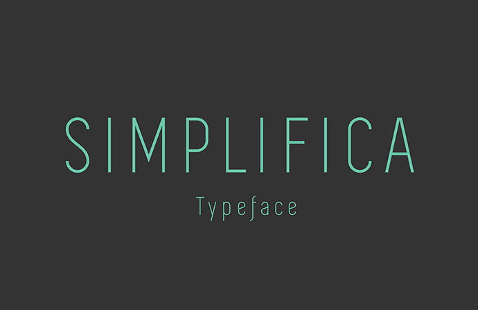 Simplifica - 45+ Amazing Sans Serif Fonts For Minimalist Designs [year]