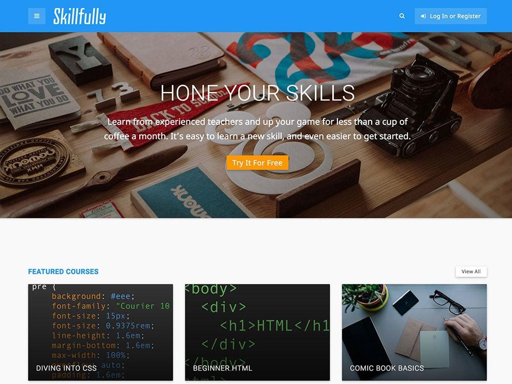 Skilfully - 30+ Awesome LMS WordPress Themes & Plugins [year]