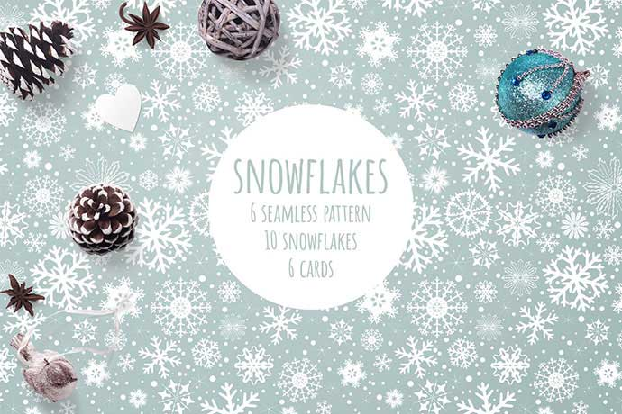 Snowflakes - 37+ Awesome Christmas Backgrounds, Patterns [year]