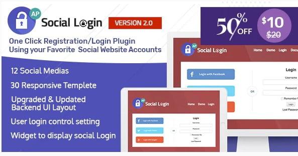 Social-Login-WordPress-Plugin-1 - 35+ Best WordPress Login & Registration Plugins [year]