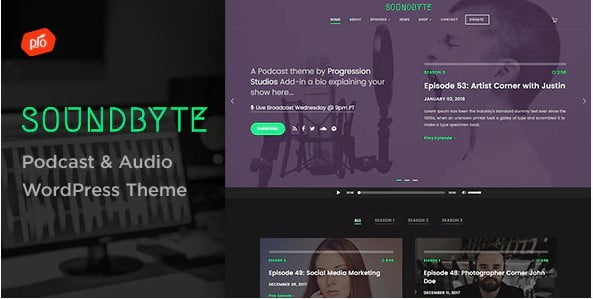 Soundbyte - 35+ Nice Videographers & Cinematographers WordPress Themes [year]