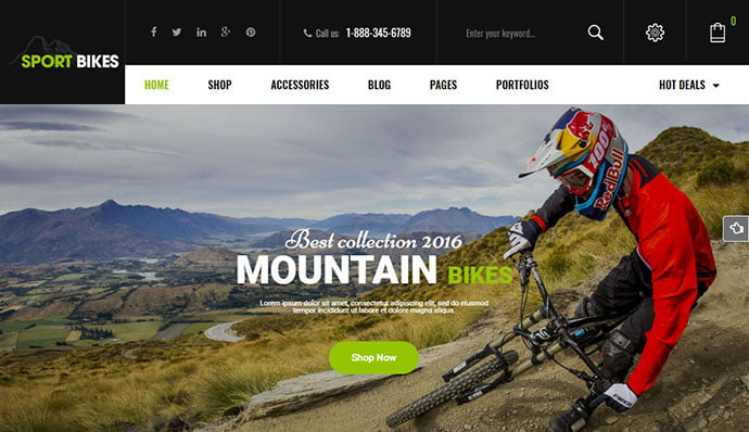 Sportbikes - 29+ Best Bike Store Responsive WordPress Themes [year]