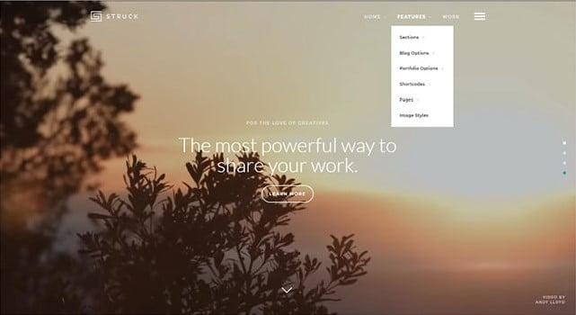 Struck - 35+ Nice Videographers & Cinematographers WordPress Themes [year]