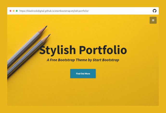 Stylish-Portfolio - 53+ Free HTML CSS Portfolio Web Design Templates [year]