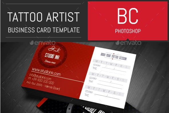 Tattoo-Artist-Business - 31+ Awesome Free Tattoo Business Card Designs 2020