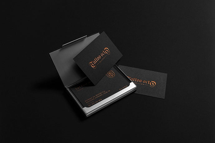 Tattoo-Octo - 31+ Awesome Free Tattoo Business Card Designs 2020