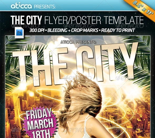 The-City - 48+ Lovely Flyer & Poster Design Templates [year]