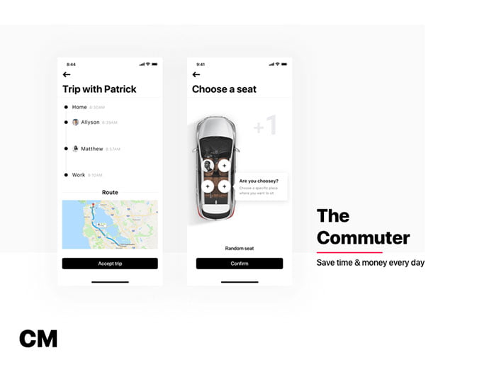 The-Commuter - 53+ NICE Free Seat Reservation App UI Design IDEA [year]